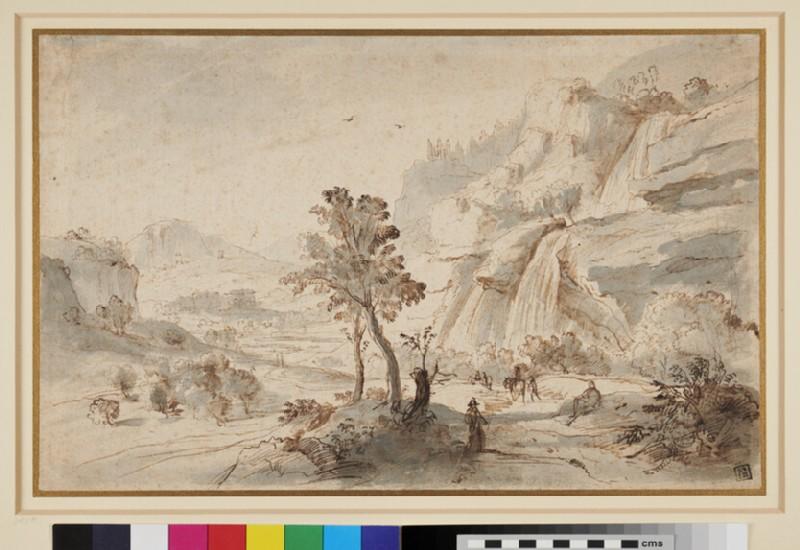 Italian Landscape (WA1943.82, recto)