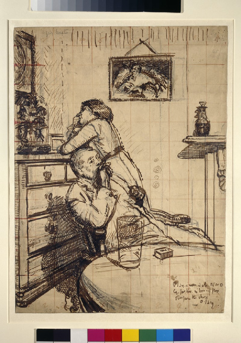 Study for 'Ennui': Hubby and Marie (WA1943.95)