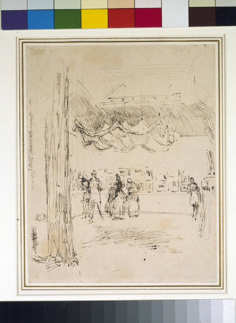 Sketch of the Interior of the Suffolk Street Gallery during an Exhibition