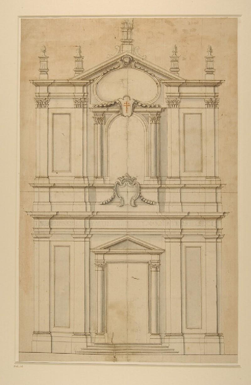 Design for the facade of SS Faustina e Giovita