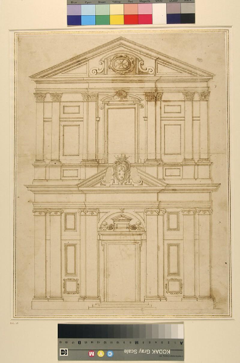 Elevation of the facade of the church of St Stefano dei Cavalieri, Pisa (WA1944.102.18)
