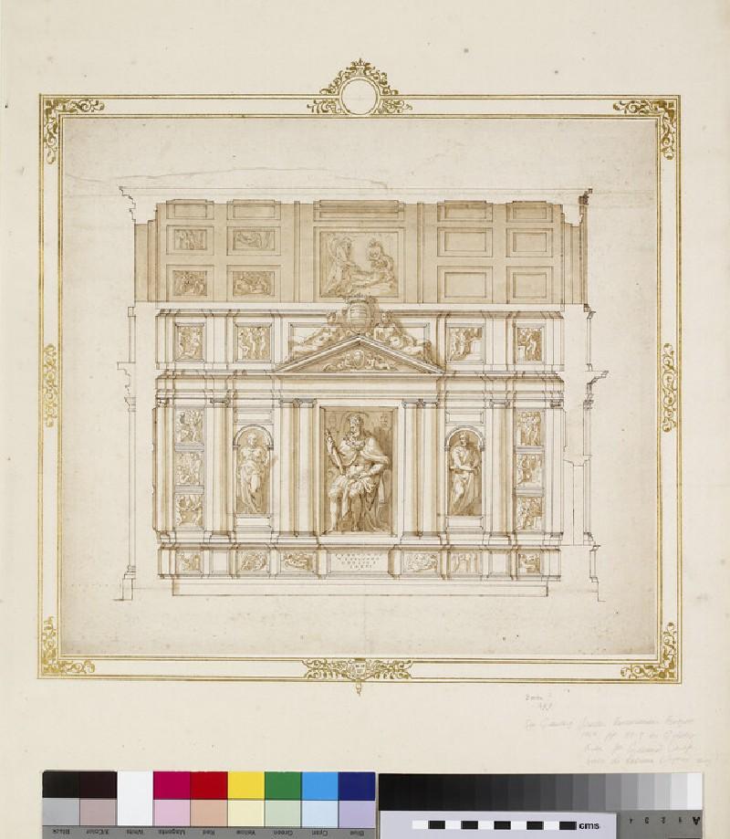 Project for a chapel for Giovanni Carafa (WA1944.102.35)