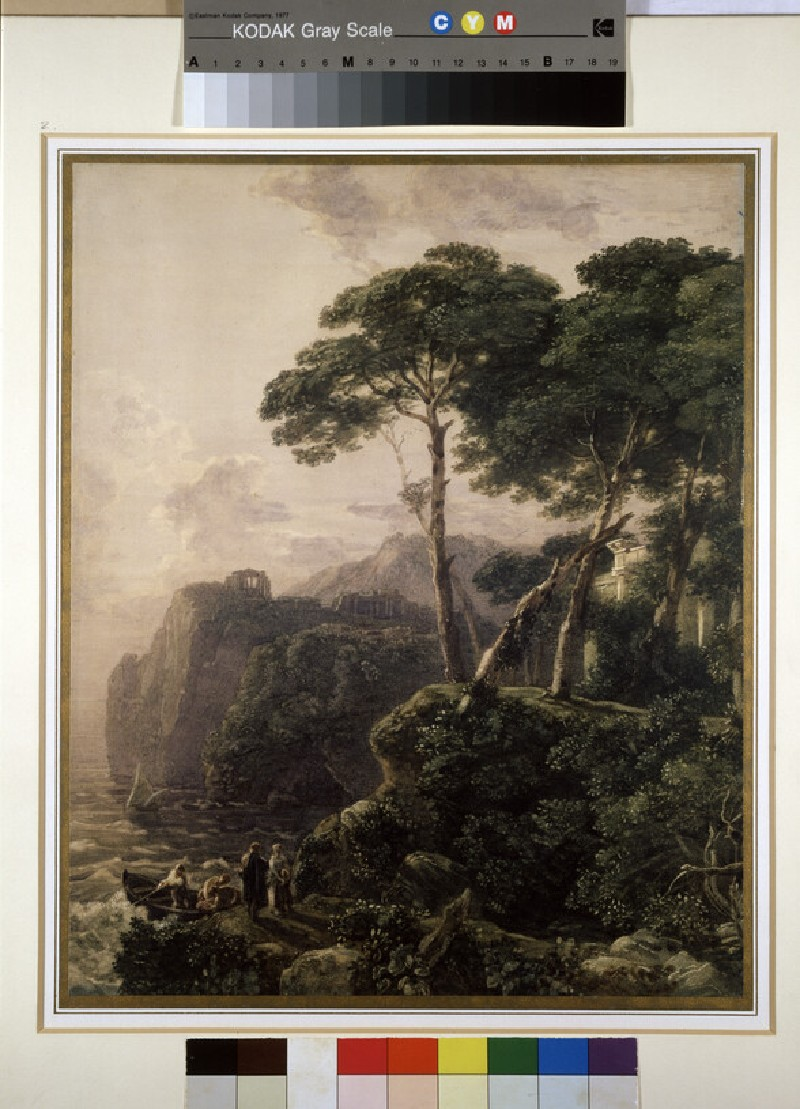 Classical Landscape with Sea and Figures (WA1945.119)