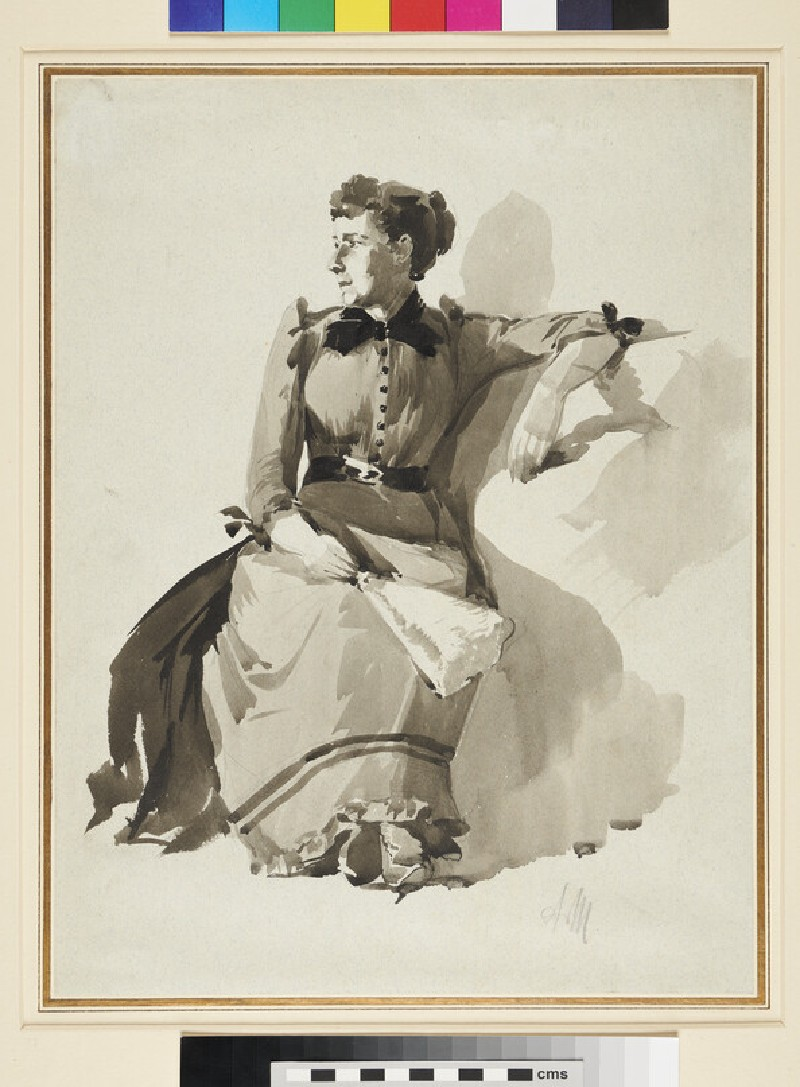 A seated Lady with a Fan