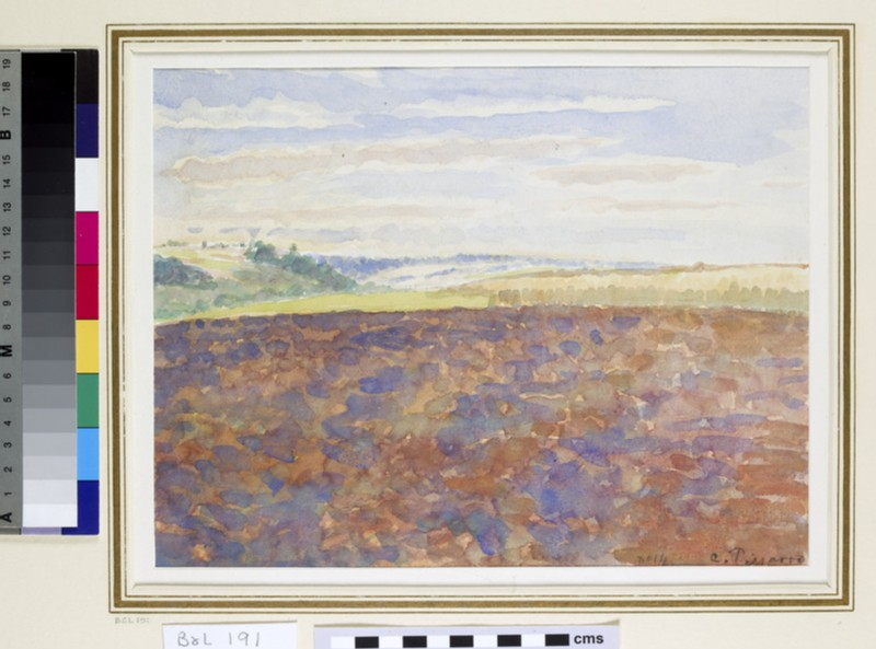 Study of a Landscape with a ploughed Field, Eragny-sur-Epte