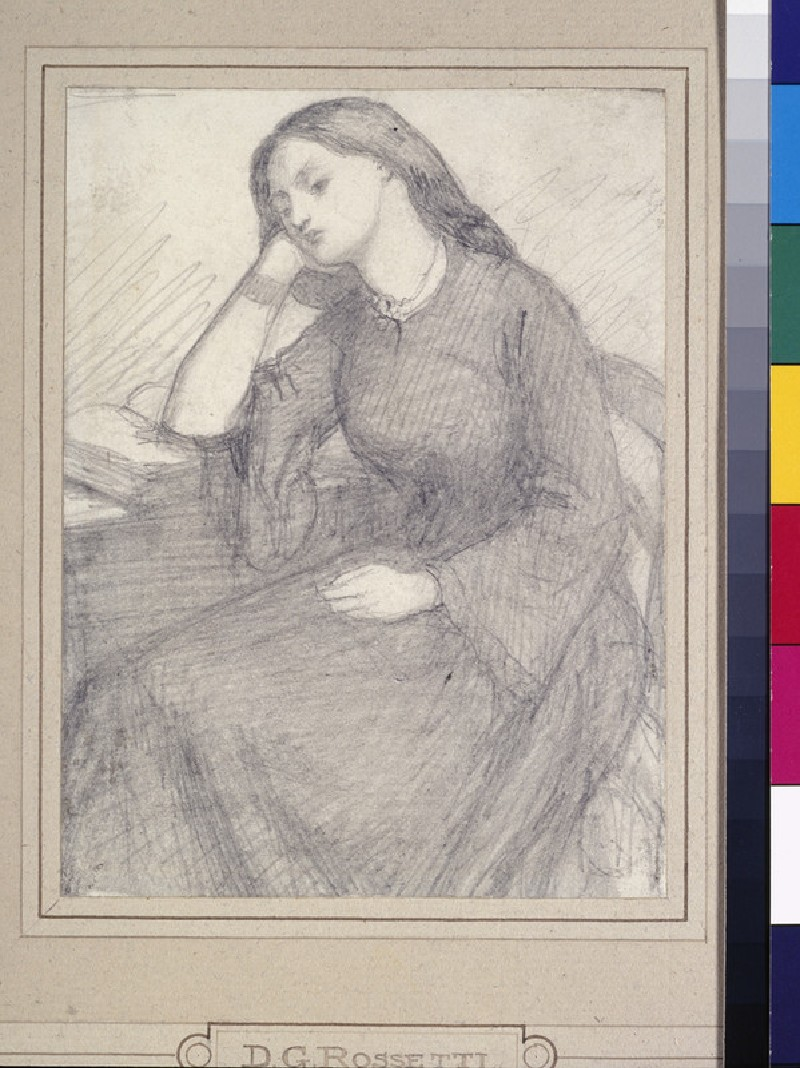 Portrait of Elizabeth Siddal, seated