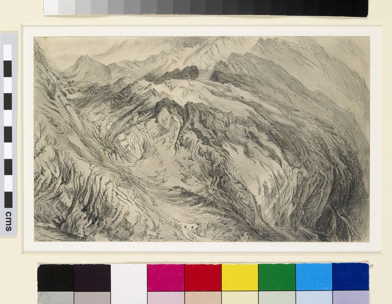 Mountain study: view of the Alps