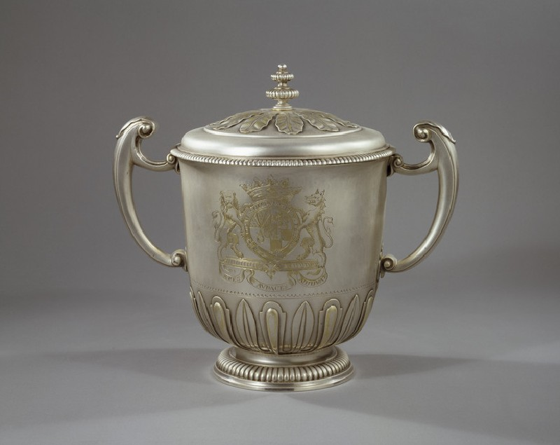 Cup and cover, one of a pair