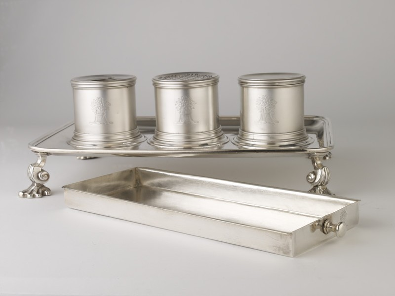 Inkstand with three inkwells