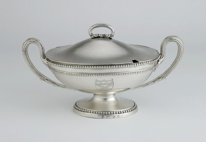 Sauce tureen, one of a set of four