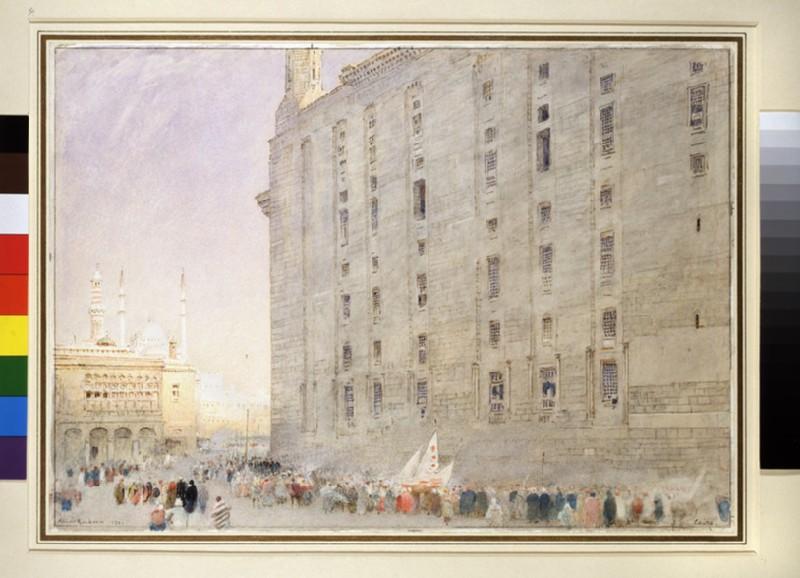 A Street Scene in Cairo (WA1946.319)