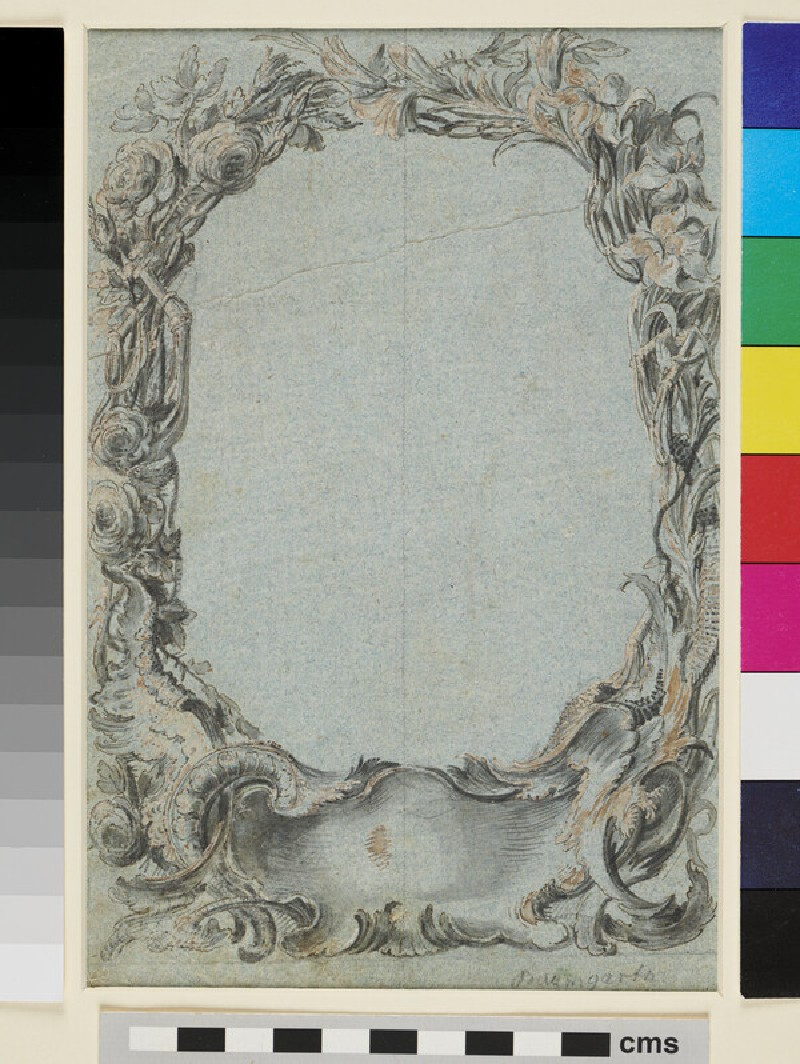 Design for an engraved ornamental Border (WA1946.322, recto)