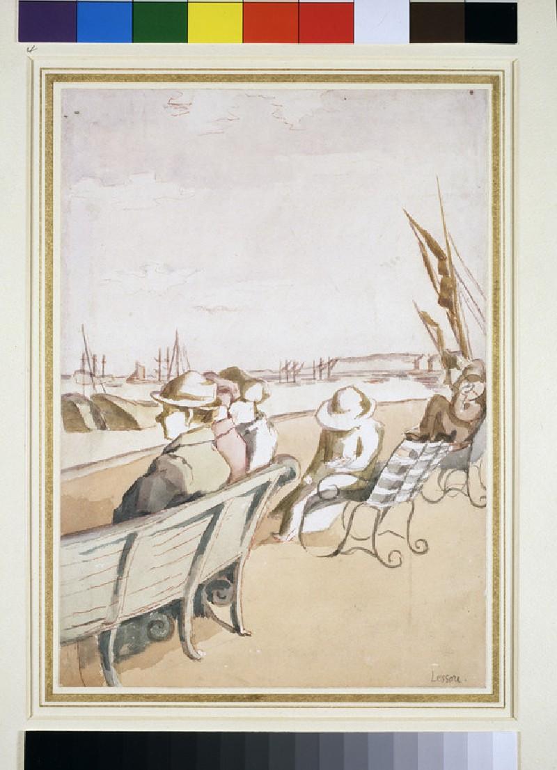 People seated on a Promenade (WA1946.328)