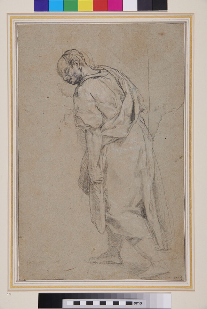 Study of a Man striding to left