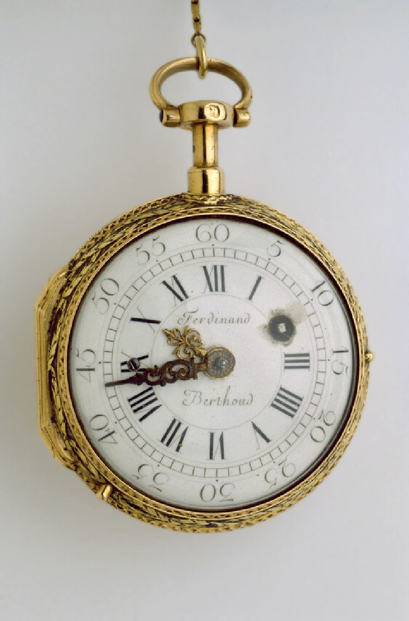 Gold and enamel cased verge watch with quarter-repeat