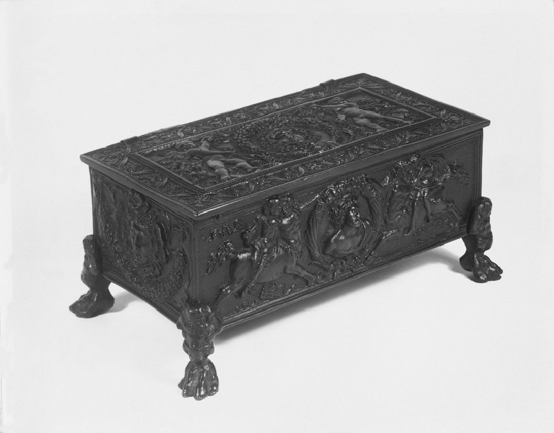Writing casket with Medusa heads and centaurs
