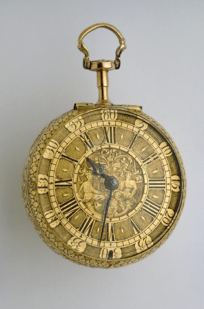 Gold cased verge watch