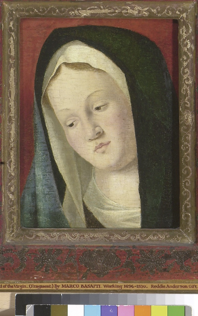 Head of the Virgin (fragment) (WA1947.202)
