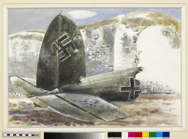 Tail of a German Plane (Under the Cliff) (WA1947.408)