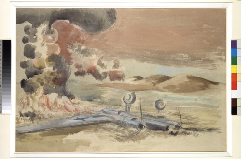 Wrecked German Plane in Flames (Death of the Dragon)