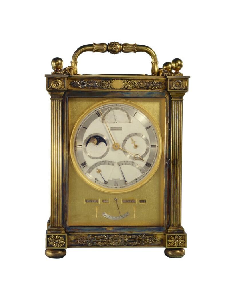 Silver-gilt carriage clock (WA1949.134)