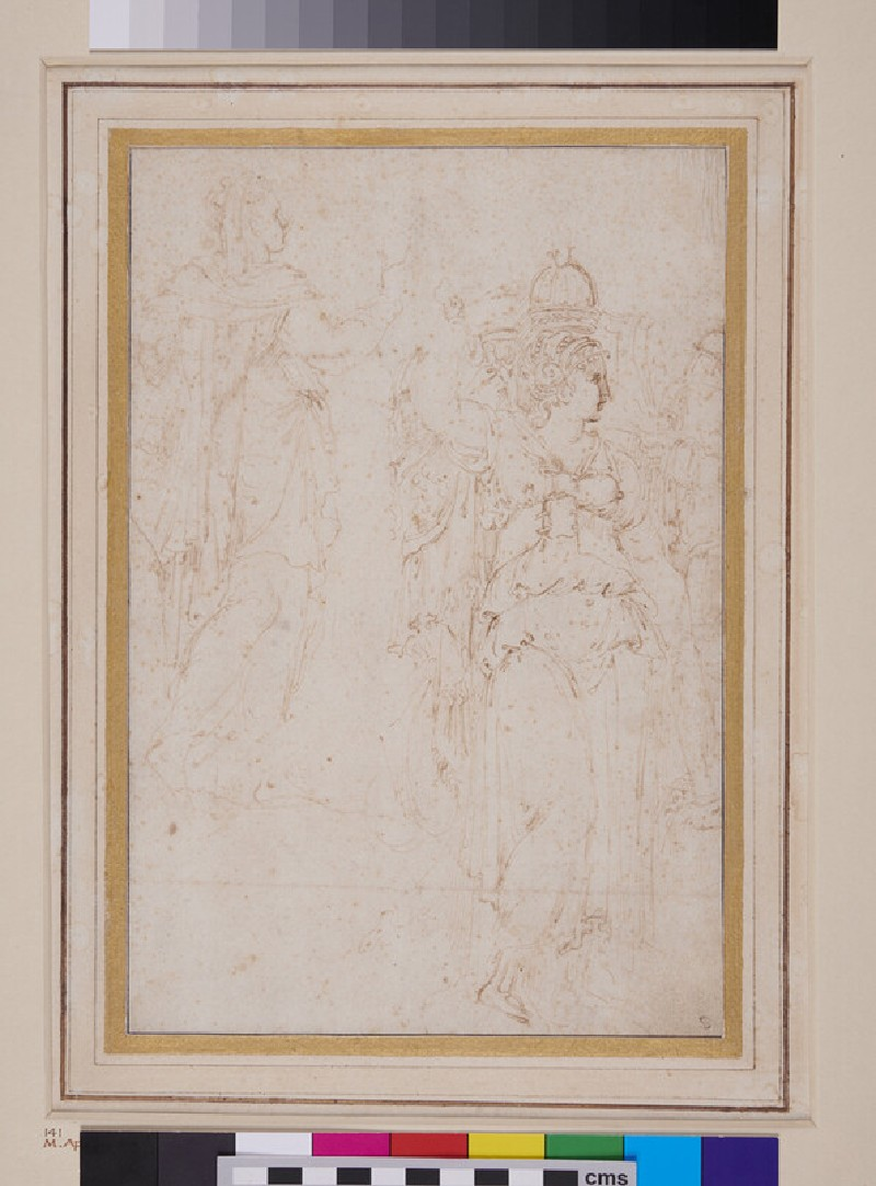 Two Studies of female Figures