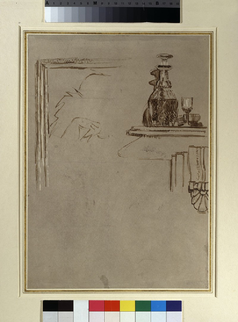Study for 'Ennui': A Decanter and other Details (WA1949.221)