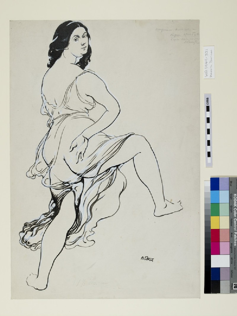 Portrait of Isadora Duncan dancing (WA1949.321)