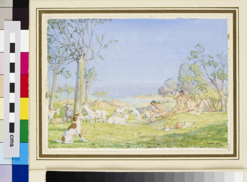 Landscape with Shepherds and Goats (WA1949.352)