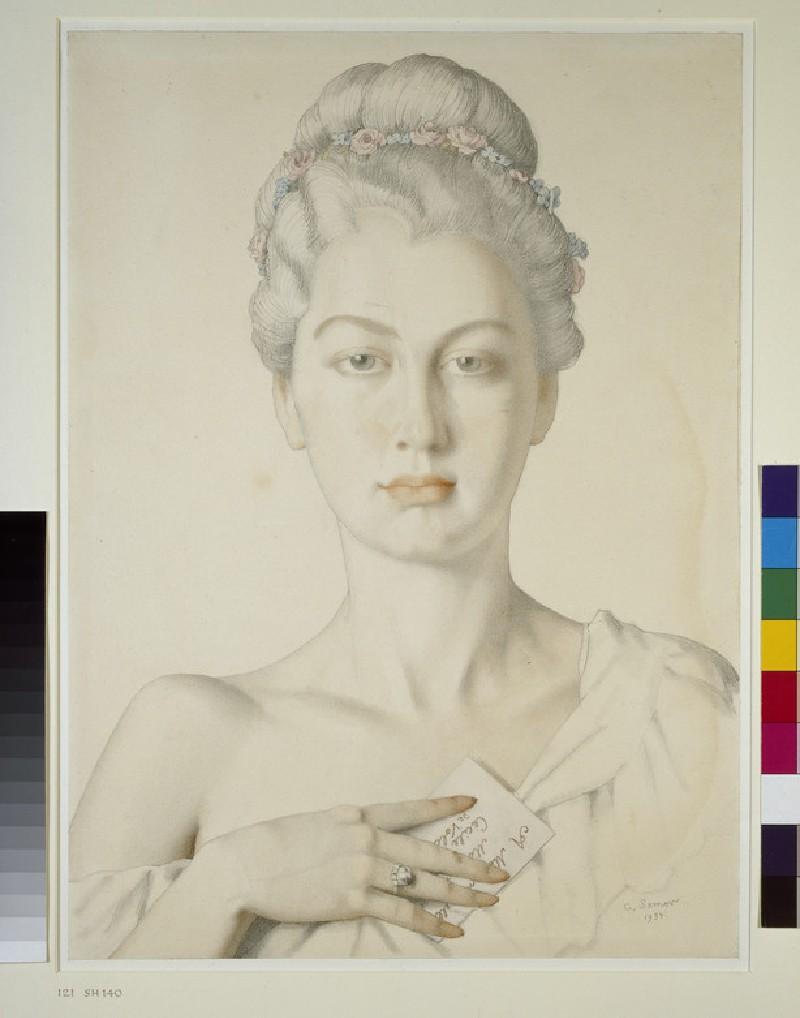 Imaginary Portrait of Cécile de Volanges in Choderlos de Laclos's 'Les Liaisons dangereuses' (WA1949.366)