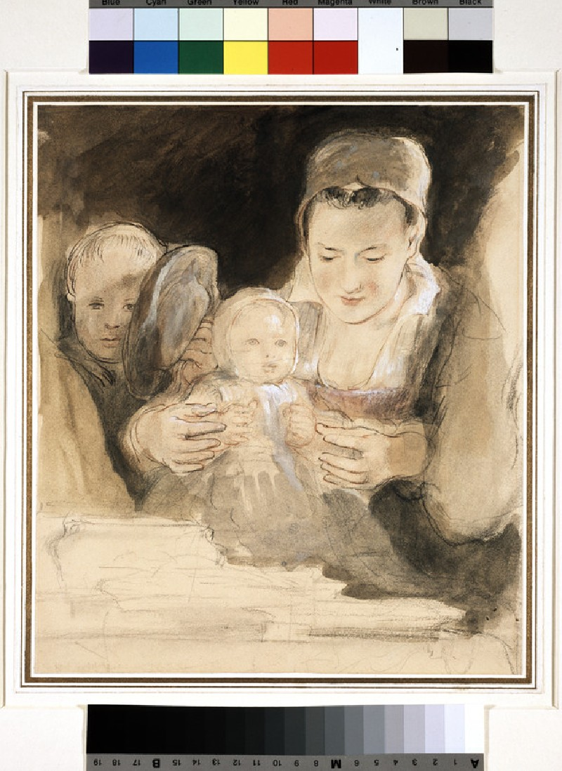 Mother and two children