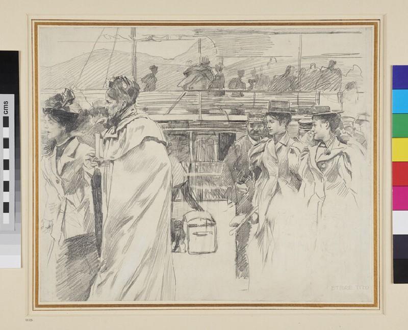 A Netherlandish Market Place (WA1950.178.128, recto)