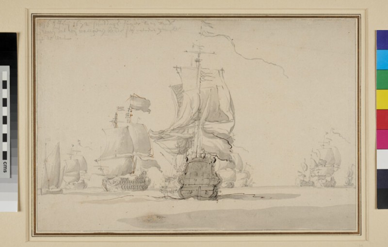 The Dutch Fleet (possibly), Two Days before the Battle of Solebay, 28th May 1672