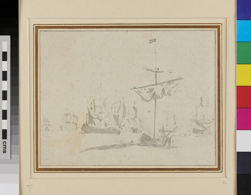 An Advice Yacht with a Council-of-war in the Dutch Fleet