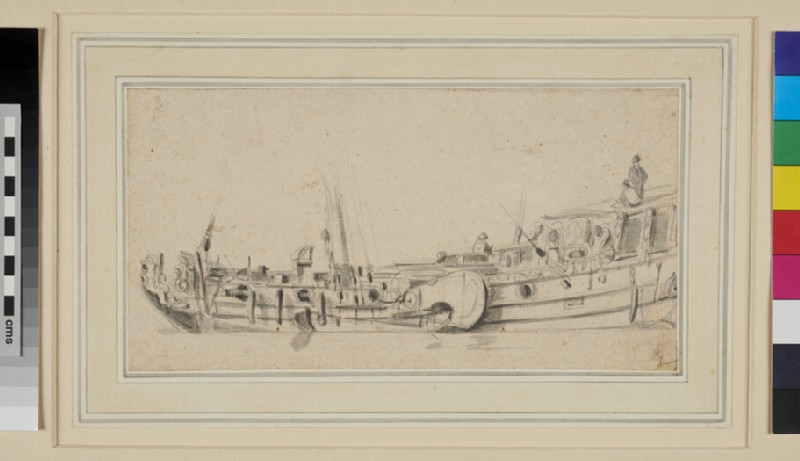 Near broadside View of a Dutch Yacht