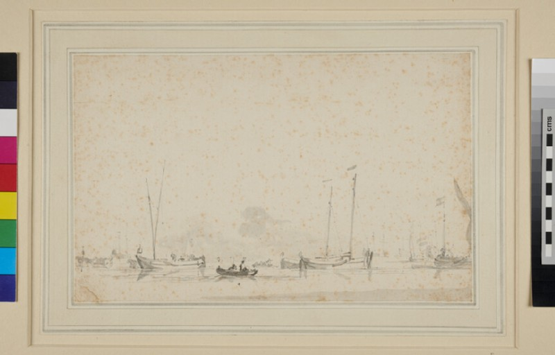 Dutch fishing Boats near the Shore (WA1950.178.210, recto)