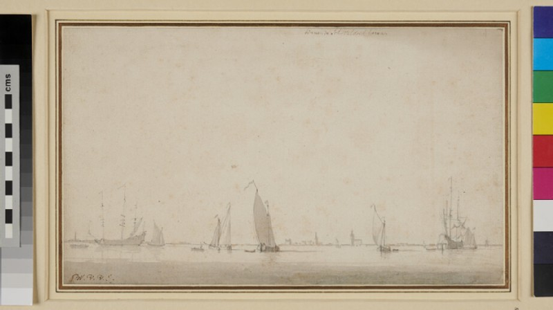 Dutch Shipping off Schÿteldockhaven (WA1950.178.219, recto)