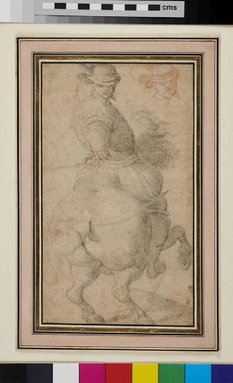 Man on Horseback, observed from behind