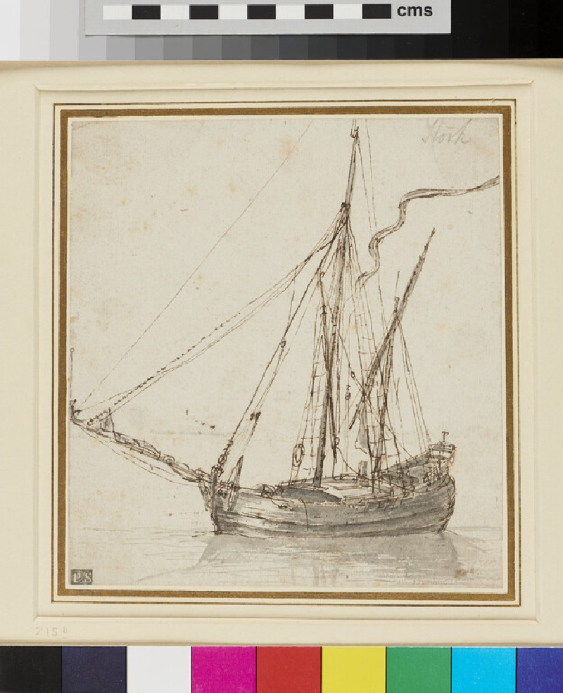 A two-masted Vessel (WA1950.178.6, recto)