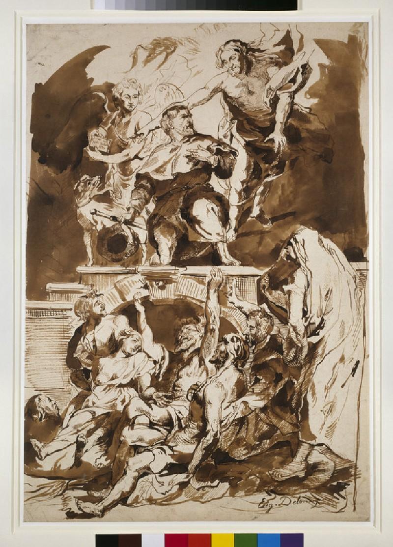 St Roch interceding for the plague-stricken