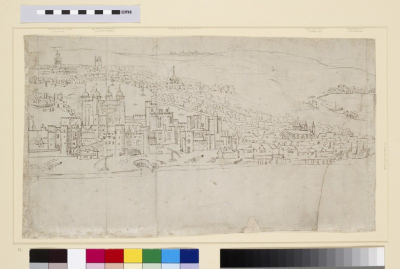 Panorama of London as seen from Southwark: The Tower (WA1950.206.11)