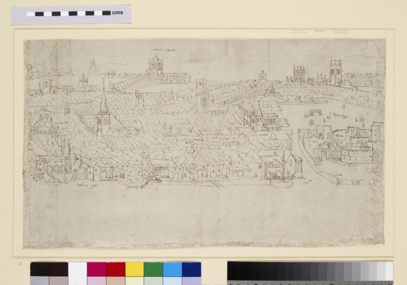 Panorama of London as seen from Southwark: Billingsgate to Tower Wharf (WA1950.206.9)