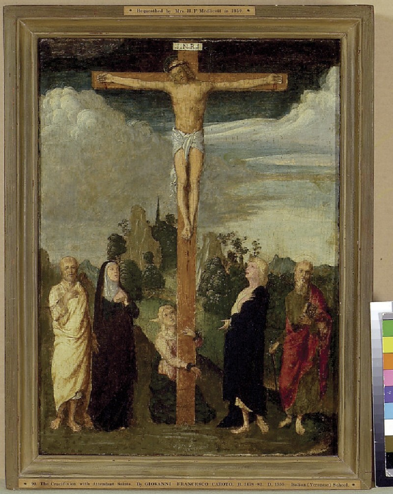 The Crucifixion with the Virgin Mary and St John (WA1950.21)