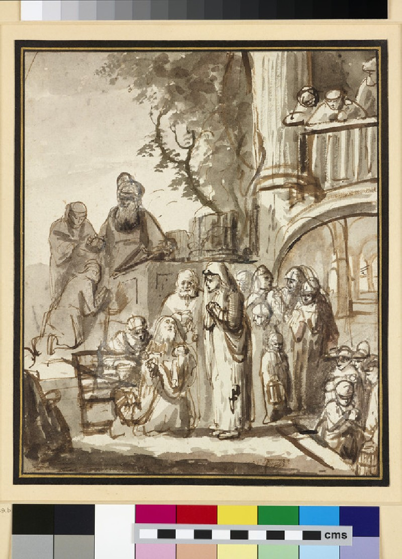 Hannah brings Samuel to Eli (WA1951.141)