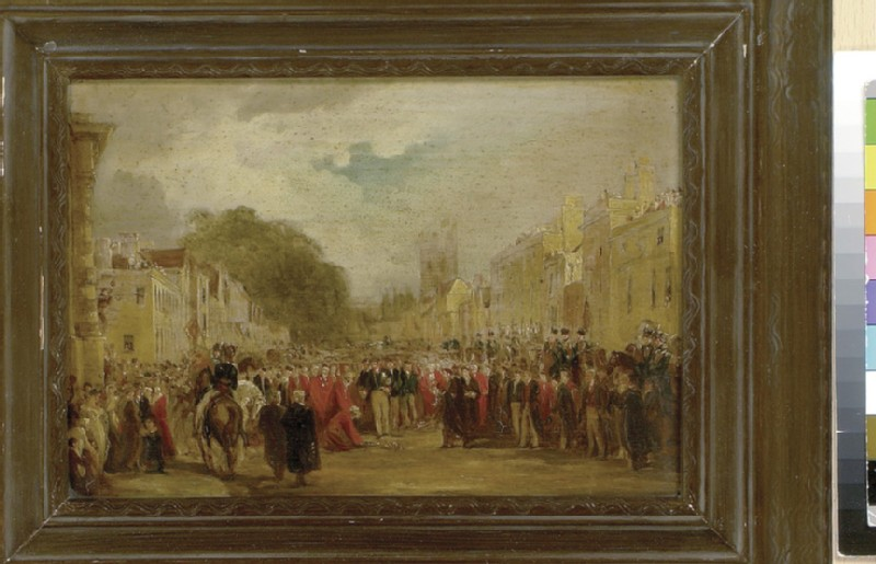 H.R.H. the Prince Regent received by the University and City of Oxford, June 14, 1814 (WA1952.116)