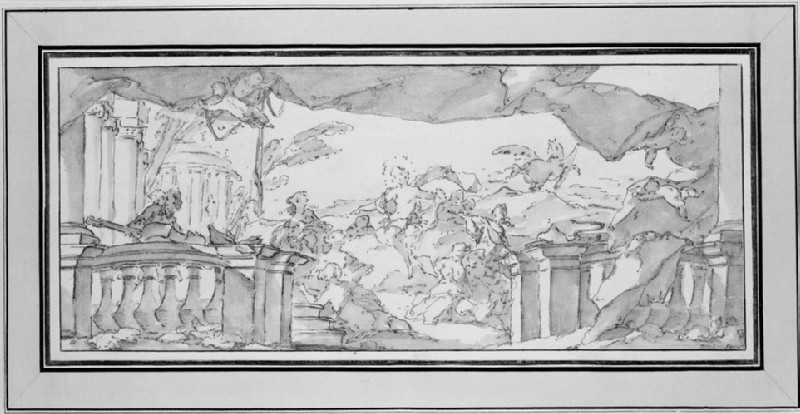 Design for a mural with Apollo and the Muses