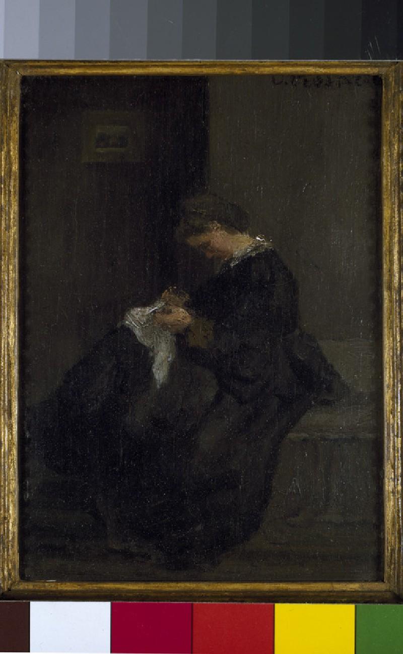 Julie Pissarro sewing