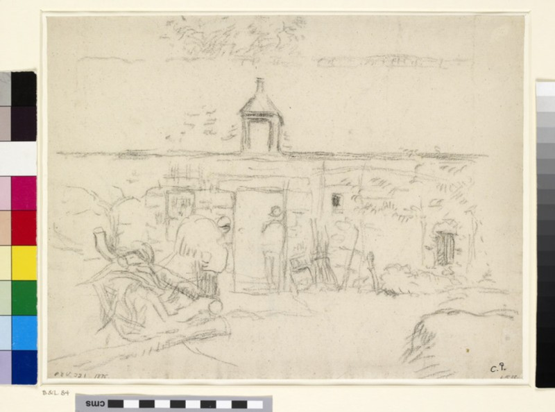 Study of the Farmyard at Montfoucault (WA1952.6.115)