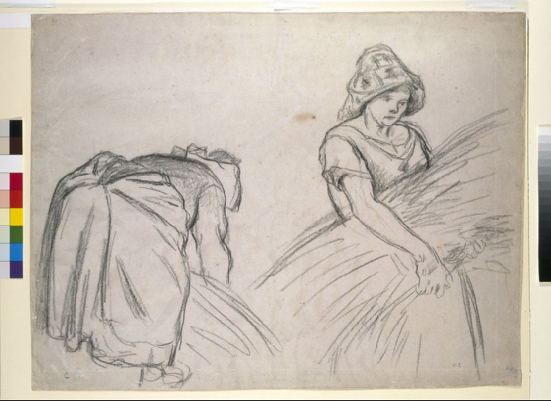 Study of two female harvesters (WA1952.6.169)