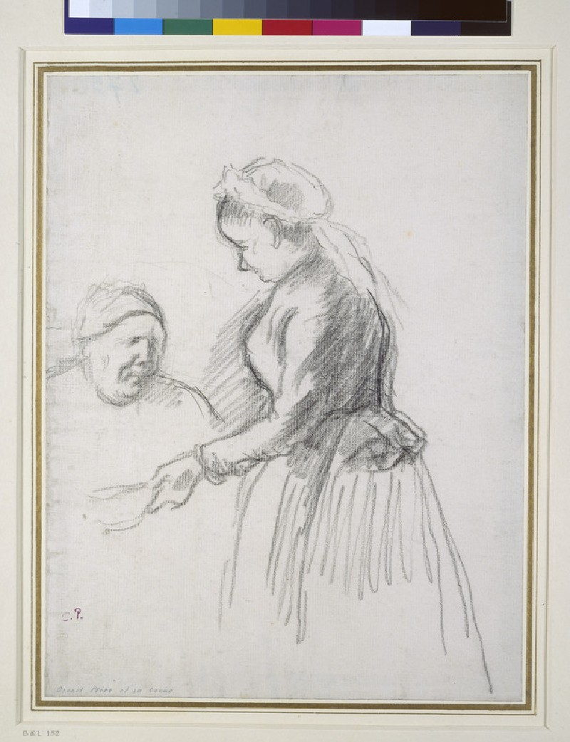 Study of the artist's mother with her maid